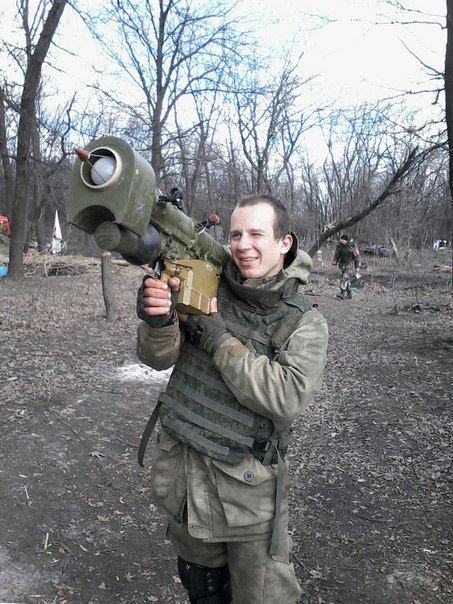 Russian militant from the 3rd OMSBR with MANPADS in Horlivka, March 31, 2016. Photo: @GirkinGirkin https://twitter.com/GirkinGirkin/status/715563259840081925