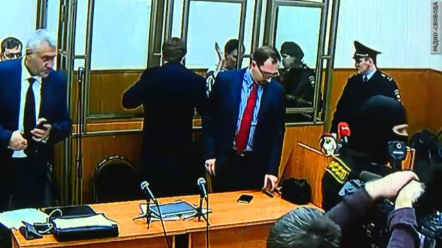 Nadiya Savchenko at end of court trial today, March 3, 2016. Photo: social media