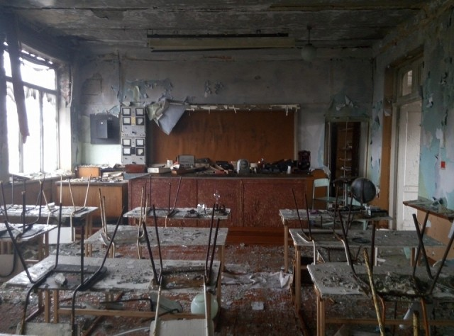 School in Pisky. Photo: Konstantin Bernatovich