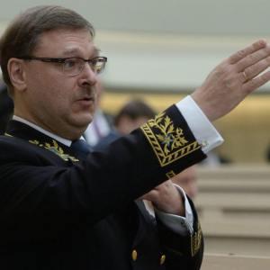 Konstantin Kosatschew, Kommissionspräsident des Föderationsrates für Auswärtige Angelegenheiten der Russischen Föderation