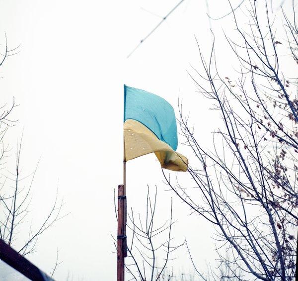 Shrapnel-pierced flag. Photo: Bryce Wilson, https://twitter.com/brycewilsonAU/status/718318364708466688