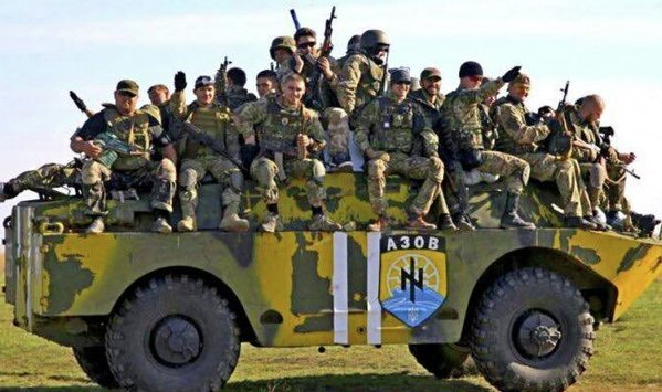 Fighters of the Azov Battalion
