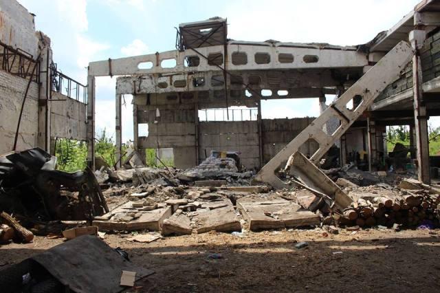 "Destroyed building at the ""Shakhta"" coal mine (Butovka). Photo: Taras Kuzio"