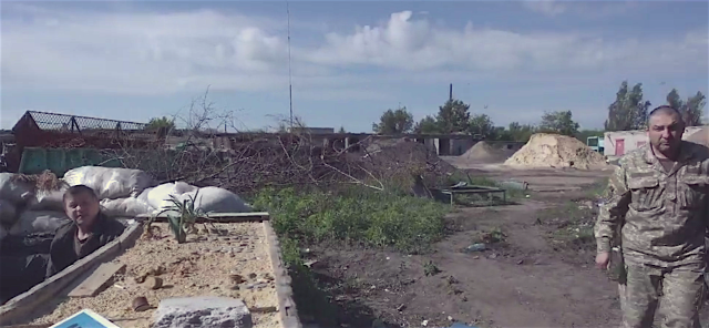 Ukrainian soldiers at the front line in the industrial zone outskirts of Avdiivka, May 27, 2016. Source: BBC video screenshot