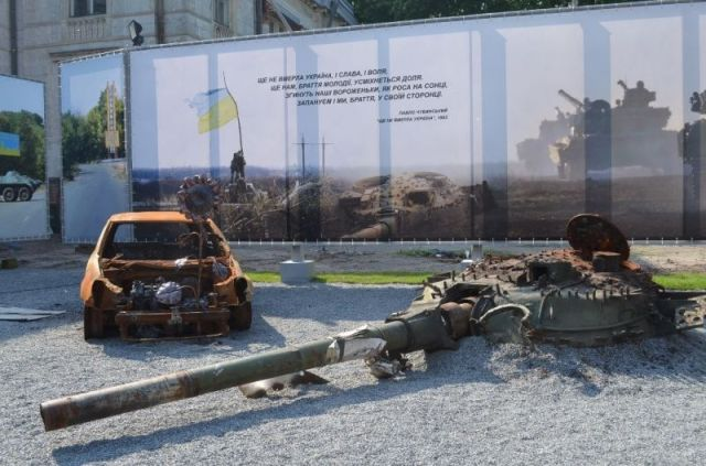 "The ATO Museum, ""The Roads of Donbas"" opened in Dnipro on May 26, 2016 Source"