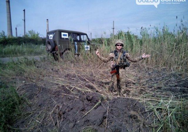 OSCE monitors recorded hits at Avdiivka coke-coal plant, June 14, 2016. Photo source: https://twitter.com/tiamat007/status/742740155983876096