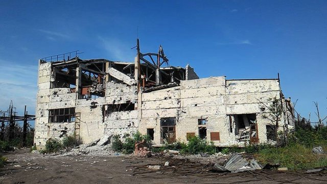 Butivka mine after powerful shelling by the Russian horde. Photo source: https://twitter.com/UaForces/status/742809477540392960