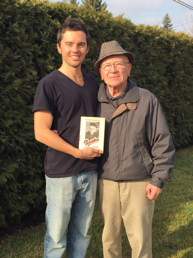 Stepan Fedenko, 89, and his grandson (and book translator) Damian Oleksiuk