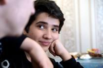 Ilyas Aliev, son of Crimean Tatar Muslim Aliev, imprisoned on so-called Hizb ut-Tahrir charges. Photo: Anton Naumlyuk